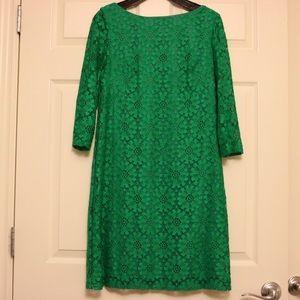 Eliza J Green lace dress